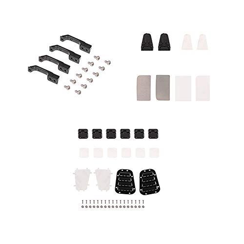 [해외]Goolsky 흡 기 그릴 커버 및 엔진 커버 힌지 및 문 손잡이 및 문 경첩 및 금속 백 미러 콤보 for 110 RC 크롤러 카 Traxxas TRX-4 용 / Goolsky Intake Grille cover & engine cover hinge & door handle & Door hinge & Metal rearview mirror comb...