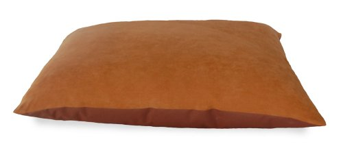 NAP Pet Bed Suede and Oxford Pet Pillow Bed, Camel, 27-Inch