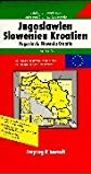 Carte routière : Europaserie, Jugoslawien, Slowenien, Kroatien