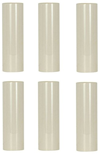 3 Candelabra Sockets - Creative Hobbies 3 Inch Tall Cream Plastic Candle Cover Sleeves Chandelier Socket Covers - Pack of 6 - Slip Over E12 Candelabra Base Sockets