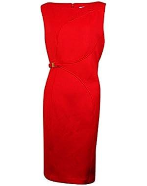 Women's Sheath Dress with Front Cutout