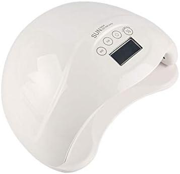 LEDネイルドライヤー 48Wプロフェッショナルディスプレイのジェルネイルポリッシュランプ、ネイルドライヤーでスマートオートセンシング 過熱保護 (Color : White, Size : U.S. regulations)