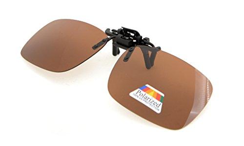 Pack 4 up Polarizado de Clip sol 60x43 de de metal Gafas gafas MM maron Eyekepper 4pcs Flip Clip RqFzvzH