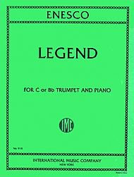 Legend Composed By Georges Enescu. For Trumpet and Piano (Trumpet in B-flat or Trumpet in C).