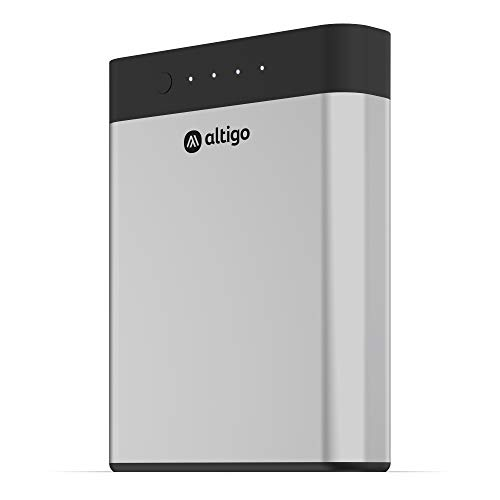 Altigo 13400mAh Portable Charger (USB Power Bank | Battery Pack) – with Dual USB C and Micro USB Input and 2 Port High Speed Output – Compatible with iPhone, Samsung Galaxy, Kindle Fire & More …