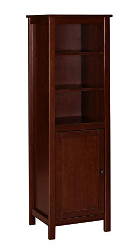 Ravenna Home Rola Rustic Storage TV Tower Media Cabinet, 19.7 W, Dark Espresso