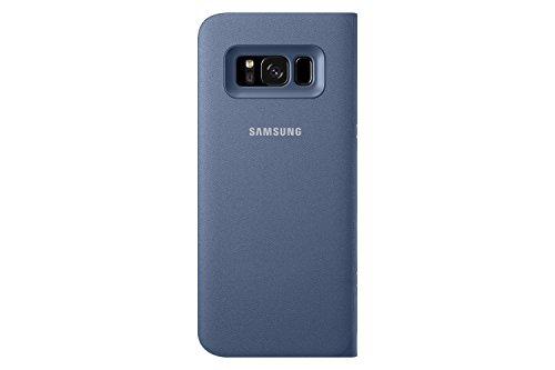Genuine Samsung LED View Cover Flip Wallet Case for Samsung Galaxy S8 - Blue (EF-NG950PLEGWW)