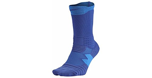 Nike Elite Versatility Crew Adult Basketball Athletic Training Socks (L, 480 Game Royal/Photo Blue)