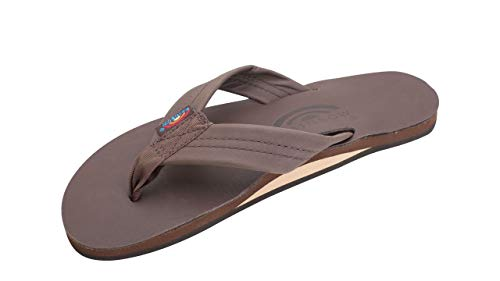 (Rainbow Sandals Women's Single Layer Premier Leather Sandal, Mocha, Ladies X-Large / 8.5-9.5 B(M) US)