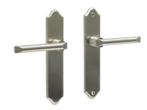 Athens by FPL- Solid Brass Full Dummy Lever Set, Satin Nickel (Full Inactive Set)