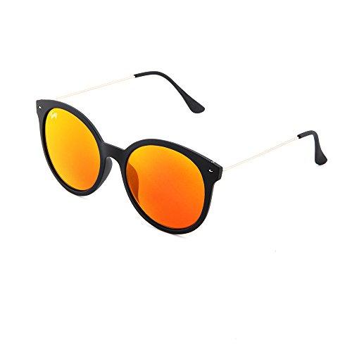 espejo de Negro Naranja TWIG mujer REMBRANDT redondo sol Gafas RXBZwaqw