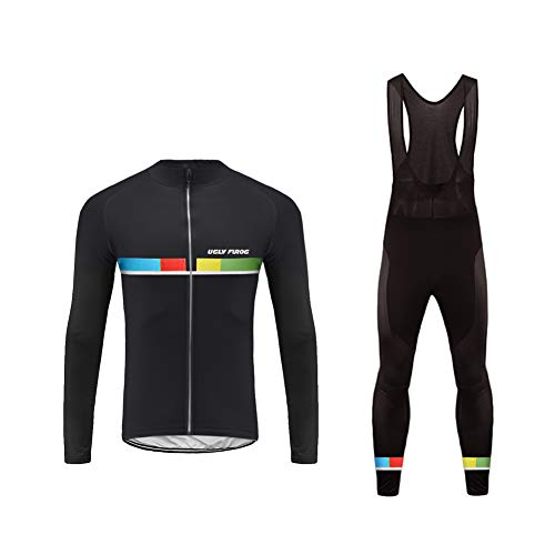 Uglyfrog Men s Cycling Jersey Set Road Biking Long Sleeves Kit with 3D  Padded Gel Clothing Full 3a3e5ce78
