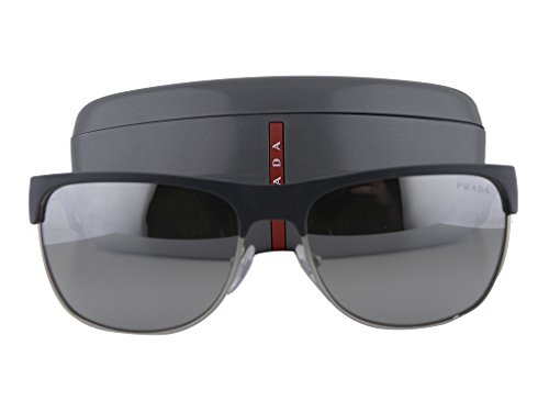 Prada PS57QS Sunglasses Gray Rubber w/Light Grey Mirror Gradient Silver Lens TFZ-1A0 PS - Sunglasses Tyler Liv