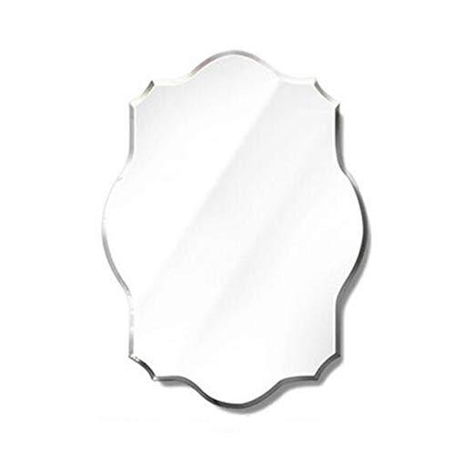 Bathroom mirror Mirror, Simple Polygonal Frameless Bathroom Wall Hanging Mirror Beveled Makeup Mirror Dressing Mirror (Size : 4560cm) ()