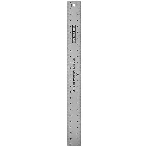 Stainless Steel Center Finding Ruler. Ideal for Woodworking, Metal Work, Construction and Around The Home (24