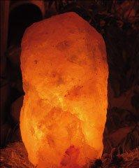 Himalita - XX Large Himalayan Crystal Salt Lamp 22-28 Lb with wood base, cord & bulb