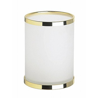 (Open Top Frozen Glass Trash Can Color: Chrome)