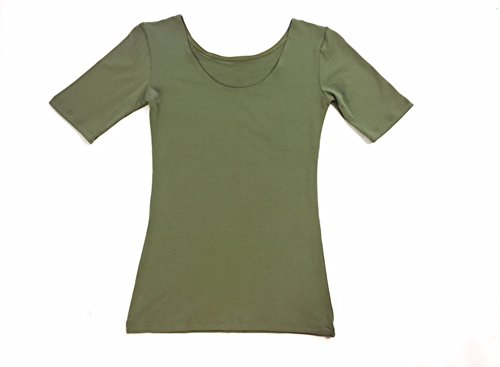 modbod Signature   Women's Reversible Half Sleeve Tee   Extra Long Soft Cotton Comfortable Top (Medium, (Womens Scoop Back Tees)