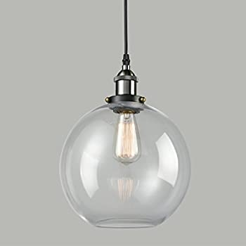 Truelite industrial clear glass globe shade pendant light modern truelite industrial clear glass globe shade pendant light modern kitchen opening hanging lamp 1 mozeypictures