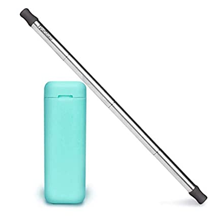 FinalStraw - ORIGINAL - PATENTED - Real Simple, Shark Tank, Kickstarter,  collapsible, stainless steel and reusable drinking straw with case