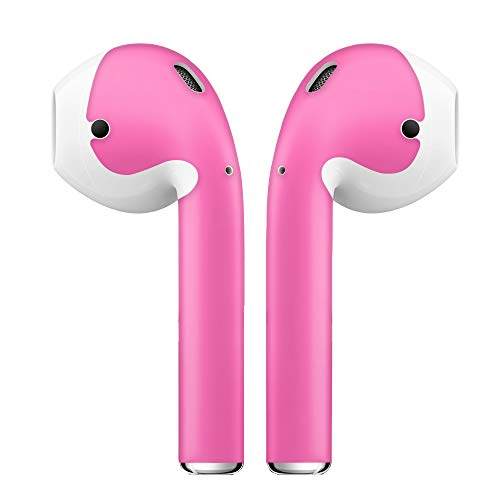 Price comparison product image AirPod Skins Protective Wraps / Pack of 2 / Customize Your AirPods / Works with Apple Airpods Accessories (Hot Pink)