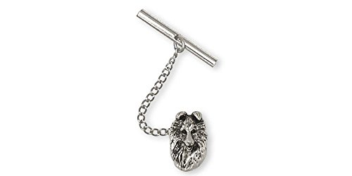 Collie Jewelry Sterling Silver Collie Tie Tack Handmade Dog Jewelry COL4-TT