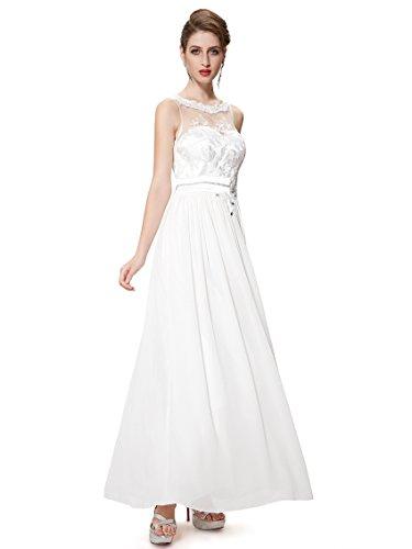 Ever-Pretty HE08189WH06 - Vestido para mujer Blanco