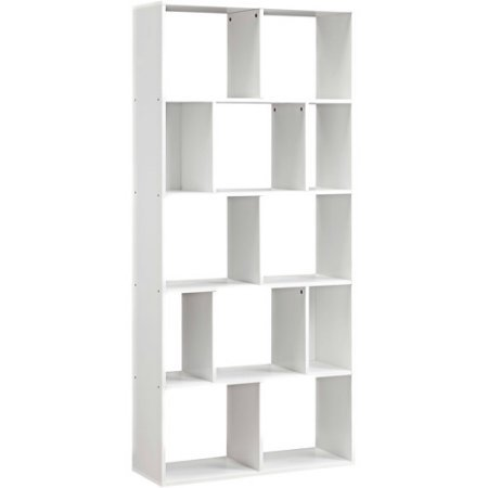 Mainstays Home 12-Shelf Bookcase White 12-Shelf, White