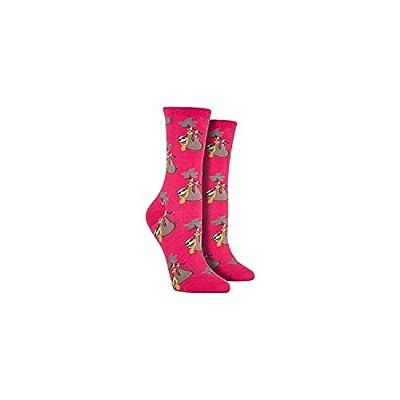 Socksmith Women'S Socks Sloth Bling Crew Raspberry 1Pair, Sock Size 9-11 - Socksmith