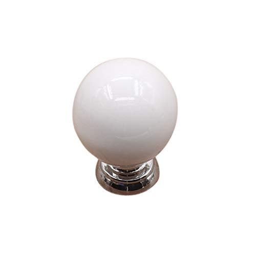 Yu2d  Vintage Ceramic Door Knobs Cabinet Drawer Wardrobe Cupboard Pull Handle White(White) ()
