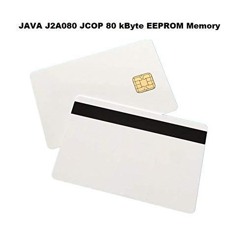 (Pack of 1 - Java J2A080 White Composite PVC Cards w/HiCo 2 Track – J2 V2.4.1 JCOP21-72K - JCOP)