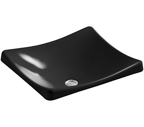 Kohler Lav Supply - KOHLER K-2833-7 DemiLav Wading Pool Bathroom Sink, Black Black