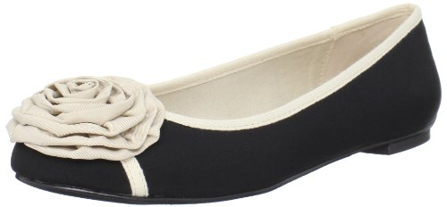 Restricted Womens Angelic Ballet Flat Black