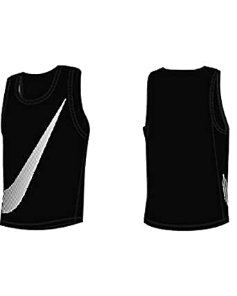 Nike Swim NESS5526 Mens Tank Hydro Top, Black-XXL