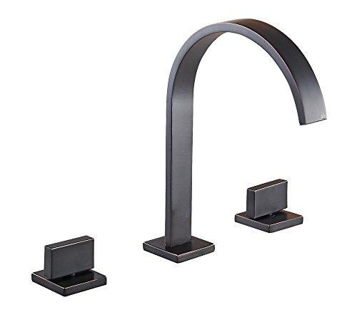 Aquafaucet Oil Rubbed Bronze Widespread Bathroom Sink Faucet Basin Vanity Mixer Tap
