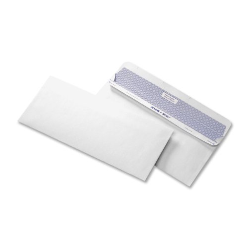Quality Park Reveal-N-Seal Business Security Envelope, 10, 4.125 x 9.5 Inches, White, 500 Envelopes (67218) ()