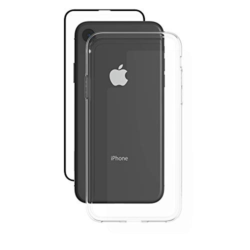 ZAGG InvisibleShield Glass+ 360 - Front + Back Screen Protection with Side Bumpers Made for Apple iPhone XR - Black, Clear by ZAGG (Image #1)