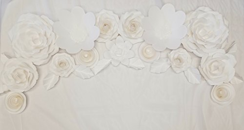 Giant wedding paper flower decoration set 25pc wedding decor giant wedding paper flower decoration set 25pc wedding decor wedding backdrop wedding flowers mightylinksfo