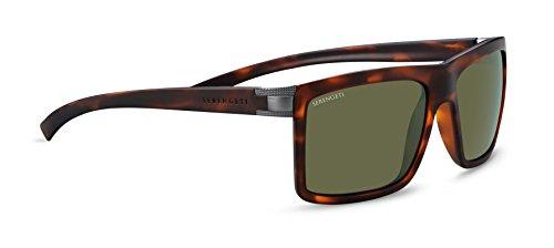 Serengeti Brera Large Sunglasses Satin Tortoise Frame Frame, Green