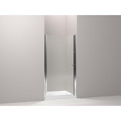 Fluence Pivot Shower Door - KOHLER K-702404-L-MX Fluence Frameless Pivot Shower Door, Matte Nickel