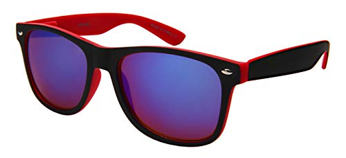 Edge I-Wear Vintage Men Women Plastic Horned Rim Sunglasses Spring Hinges M5401ASSF-REV-1(R.burev)