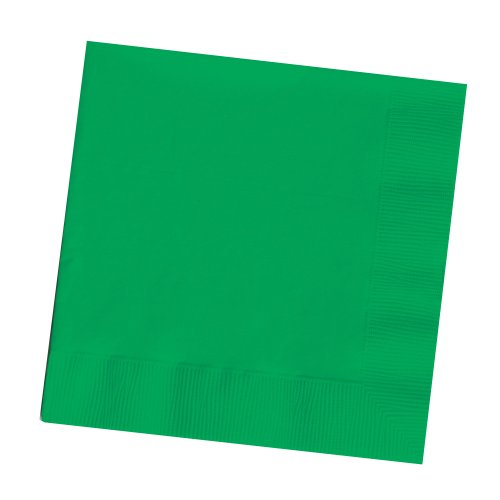 25-Count Touch of Color 3-Ply Paper Dinner Napkins, Emerald Green (Green Paper Napkins)