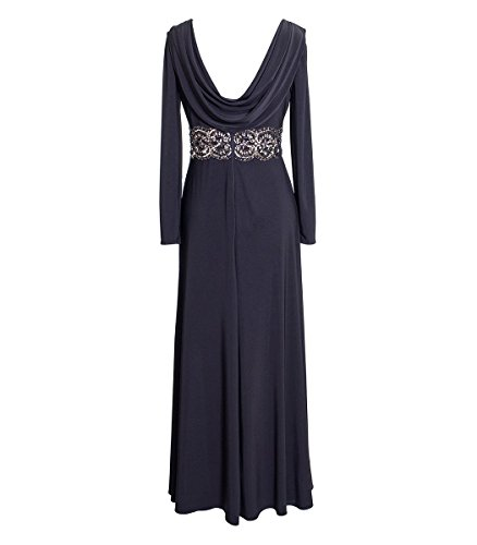 Cowl Embellished Womens Dress Plus Evening Alex Black Evenings Back qw6IvUvO