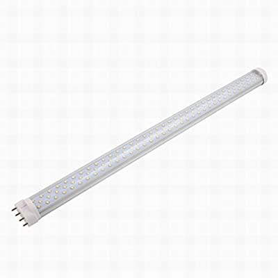 MariaP AC 85-265V 22W 2G11 6000K Horizontal 4P Connector LED Light Tube Transparent Cover