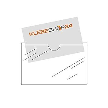Visitenkartentaschen Selbstklebend Mit Daumenausstanzung Oben Transparent 20 Oder 100 Stück 95 X 60 Mm Breite Seite Offen