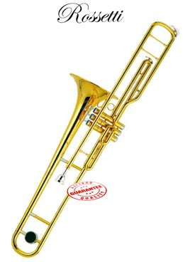 Rossetti C Key Valve Trombone Lacquer Gold, ROS1168 by Rossetti (Image #2)