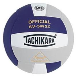 Tachikara Composite Volleyball - Sensi-Tec SV-5WSC, Colored Color: Purple/white/silver