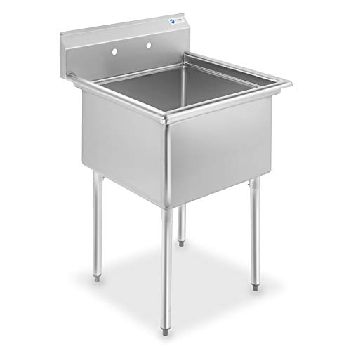 GRIDMANN 1 Compartment NSF Stainless Steel Commercial kitchen Prep & Utility Sink - 30 in. Wide (1 Steel Stainless)