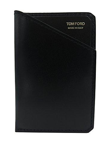 Tom Ford Black Leather Slim Card - Men Wallets Tom Ford For
