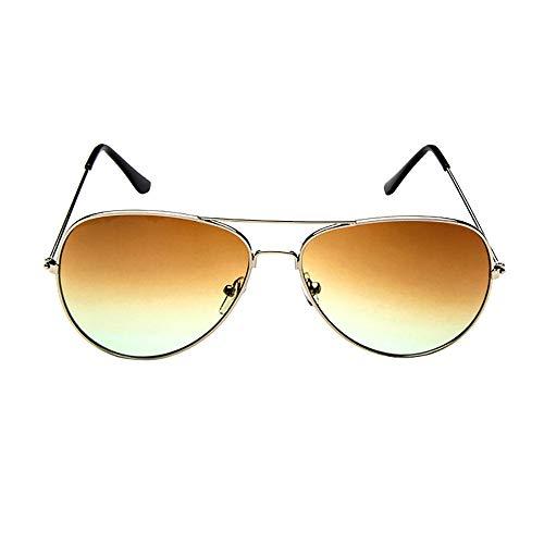 LODDD Mens Womens Retro Fashion Sunglasses Mirrored Lens Polarized Sunglasses Metal Frame Eye ()